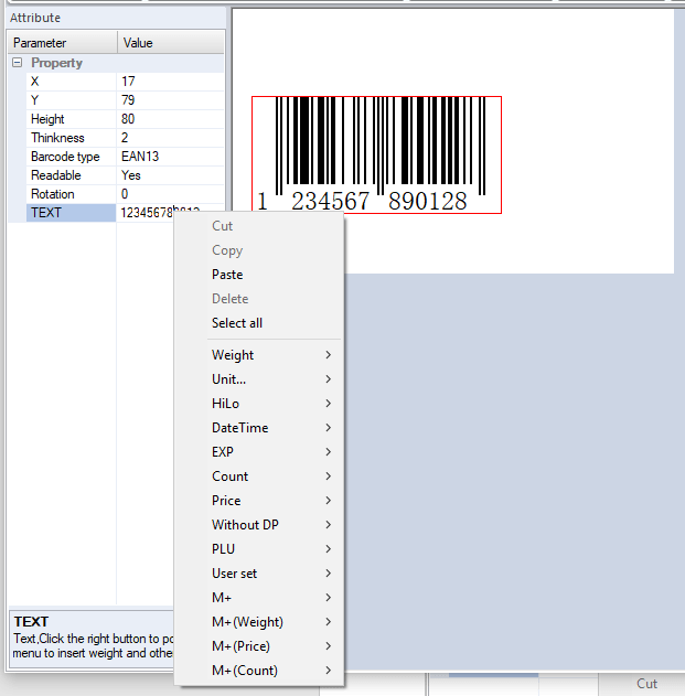 Define Contents of Barcode